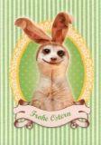 GWBI Frohe Ostern - Erdmännchen - Osterwünsche Postkarte