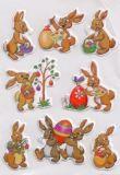 Herma Süße Osterhasen geprägt Magic Sticker