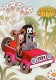 MT Maulwurf und Maus im Jeep Postkarte