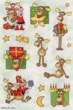 Herma Elche + Weihnachtsmänner Sticker