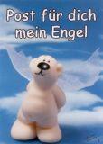 TATZINO Post für dich mein Engel Postkarte