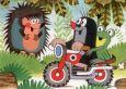 MT Maulwurf & Frosch auf Motorrad Postkarte