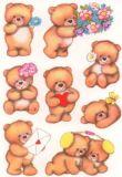 Herma Bären mit Blumen Sticker