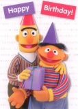 MT Happy Birthday - Ernie & Bert - Sesamstraße Postkarte