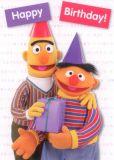 MT Happy Birthday - Ernie & Bert - Sesamstraße Postkarte