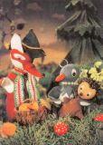 MT Fuchs & Elster sammeln Pilze - Sandmännchen Postkarte