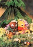 MT Pitti & Schnatterinchen mit Blumen - Sandmännchen Postkarte