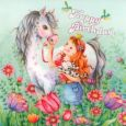 GOLLONG Happy Birthday Prinzessin m. Pferd - Nina Chen Postkarte