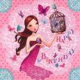 GOLLONG Frau mit Vogelkäfig - Birthday - Mila Marquis Postkarte