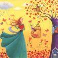 GOLLONG Frau mit Wolke & Herzbaum - Mila Marquis Postkarte