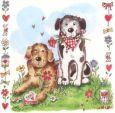 GOLLONG Zwei Hunde - Carola Pabst Postkarte