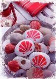 HARTUNG EDITION Muschelimpressionen rot Postkarte