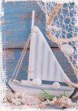 HARTUNG EDITION Segelboot Deko Postkarte