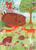 ROGER LA BORDE Critter Forest Glitzer Postkarte