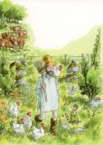 TAURUS-KUNSTKARTEN Huhn a. Schulter Petersson & Findus Postkarte