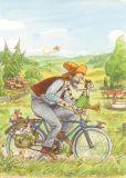 TAURUS-KUNSTKARTEN Fahrradtour Petersson & Findus Postkarte