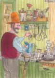 TAURUS-KUNSTKARTEN Petersson & Findus in Küche Postkarte
