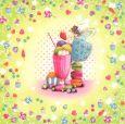 TAURUS-KUNSTKARTEN Happiness Time / Eis - C. Demuynck Postkarte