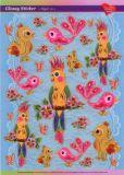 KARIN JITTENMEIER Bunte Vögel Glossy Sticker