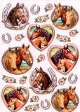 KARIN JITTENMEIER Pferde mit Herz Glossy Sticker