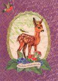 ROGER LA BORDE Bambi Glitzer Postkarte