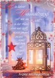 HARTUNG EDITION Weihnachtsgruß wie Licht IN TOUCH Postkarte
