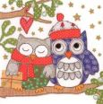 GOLLONG Weihnachtliche Eulen - Carola Pabst Postkarte