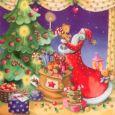 GOLLONG Nikolaus mit Weihnachtsbaum - Nina Chen Postkarte