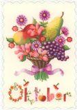 GOLLONG Oktober / Blumenstrauß - Nina Chen Postkarte