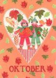 GOLLONG Oktober / Herz - Kerstin Heß Postkarte