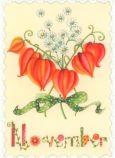 GOLLONG November / Blumenstrauß - Nina Chen Postkarte