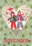 GOLLONG November / Herz - Kerstin Heß Postkarte