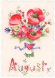 GOLLONG August / Blumenstrauß - Nina Chen Postkarte