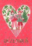 GOLLONG Dezember / Herz - Kerstin Heß Postkarte