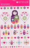 AMAZING IDEAS Little Matroschka Dolls Sticker