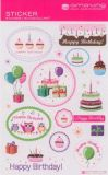 AMAZING IDEAS Happy Birthday / Cupcakes & More Sticker