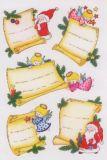 Herma Weihnachtsbriefe mit Glitzer Sticker
