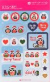 AMAZING IDEAS Little Xmas Owls Sticker