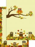 PKS autumn owls A4 pad