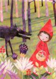 GRÄTZ Rotkäppchen - Märchen Postkarte