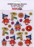 HobbyFun Blumenkinder Hobby-Design Sticker