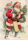 GRÄTZ Klassischer Weihnachtsmann Postkarte