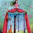 GOLLONG Frau und Wald - Mila Marquis Postkarte
