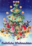 GOLLONG Musizierende Kinder & Tannenbaum - Nina Chen Postkarte