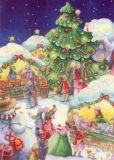GOLLONG Weihnachtsmarkt - Nina Chen Postkarte