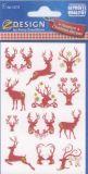 Z-Design Hirsch Weihnachten Premium Sticker