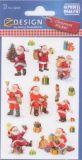 Z-Design Weihnachtsmänner mit Glitzer Sticker