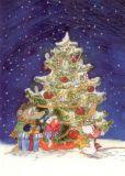 RANNENBERG Tilda unterm Weihnachtsbaum Postkarte