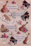KARIN JITTENMEIER Weihnachtsmusik 3D Sticker