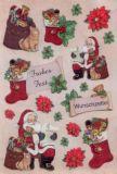 KARIN JITTENMEIER Frohes Fest / Weihnachten 3D Sticker